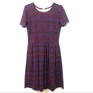 LuLaRoe Burgundy Amelia Dress with Pockets, Size L